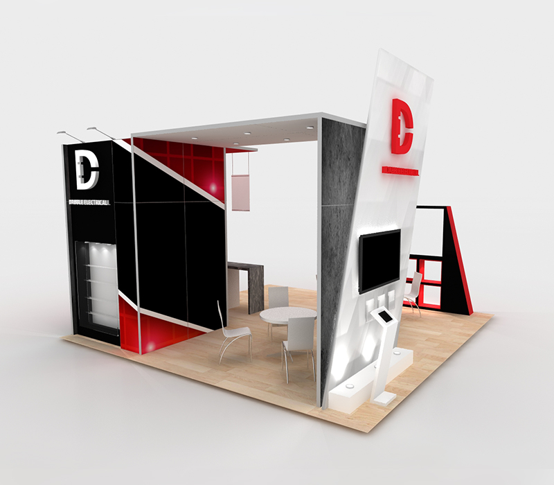 trade show exhibit custom built-ins