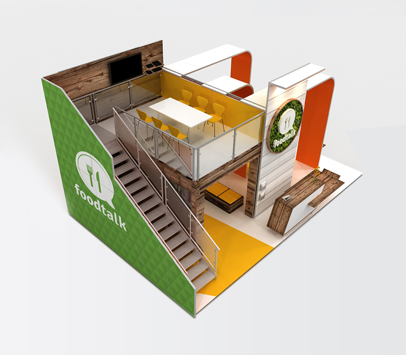 trade show displays double deck