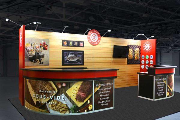 Cuisine Solutions custom inline exhibit