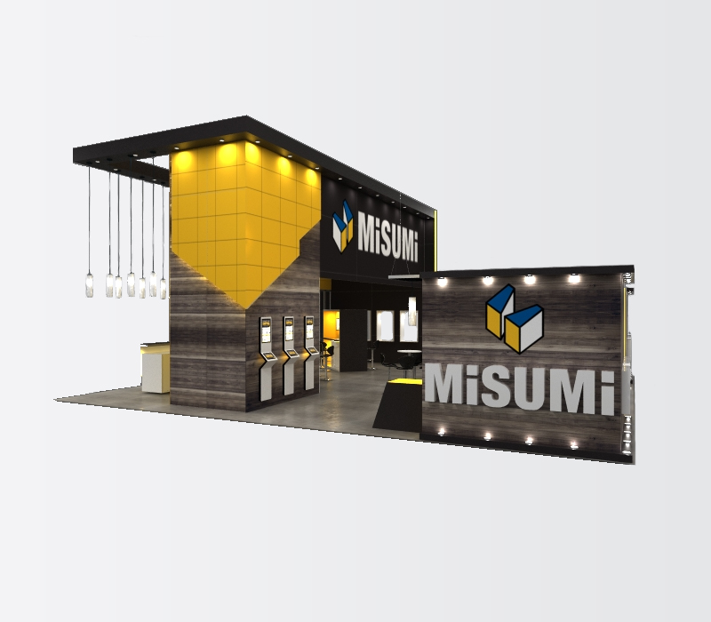 trade show displays custom lighting