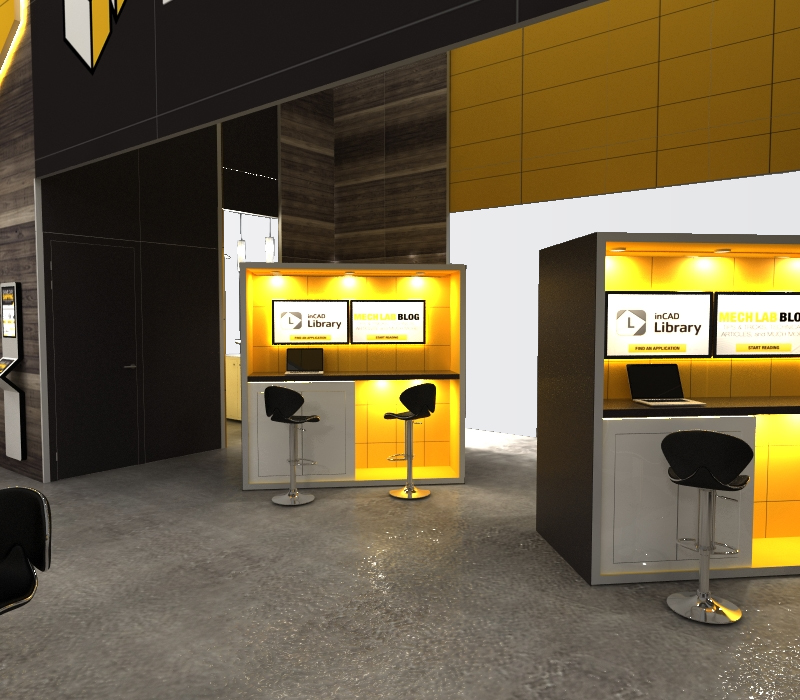 trade show displays kiosk stations