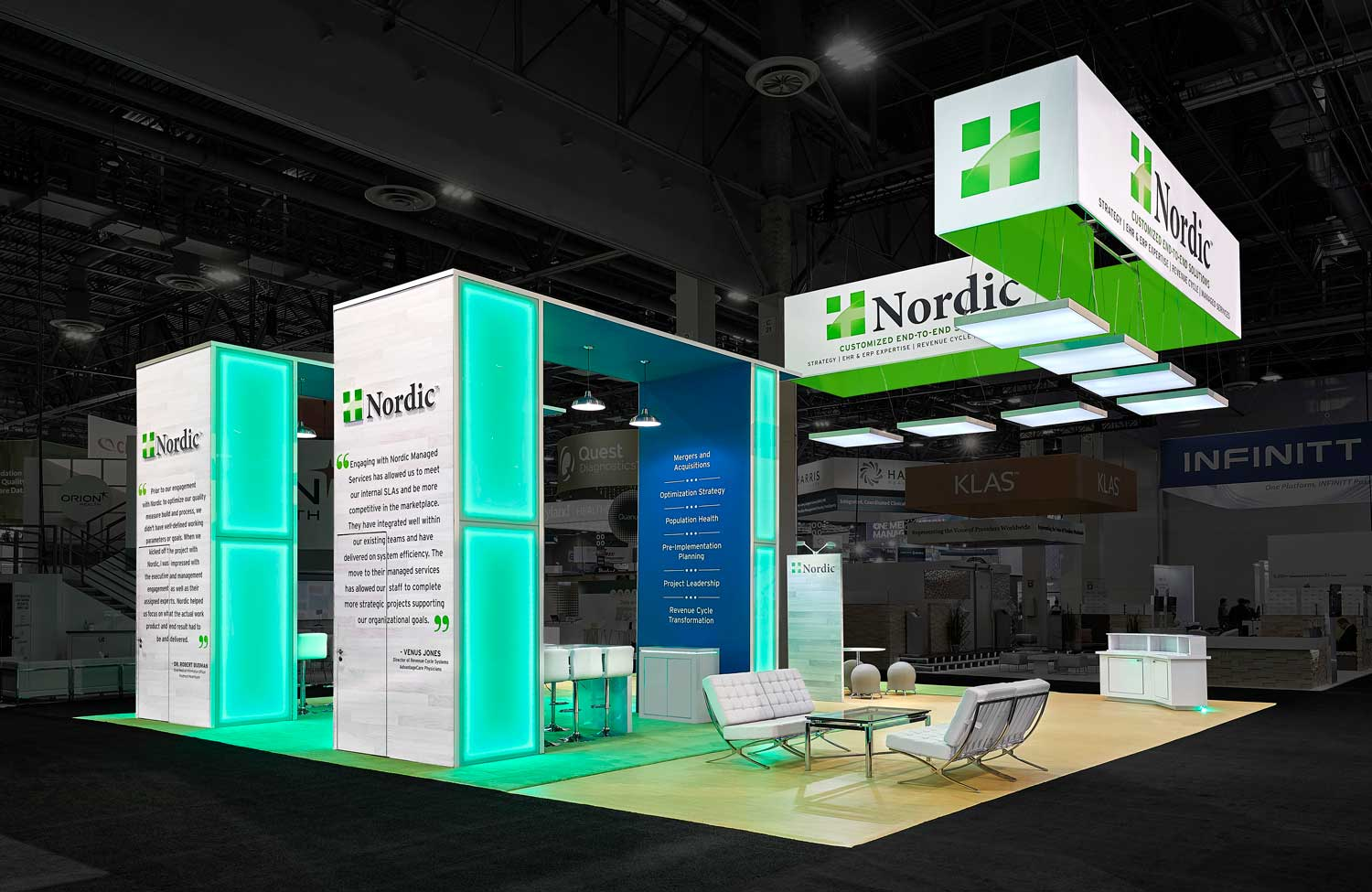 Nordic trade show booth