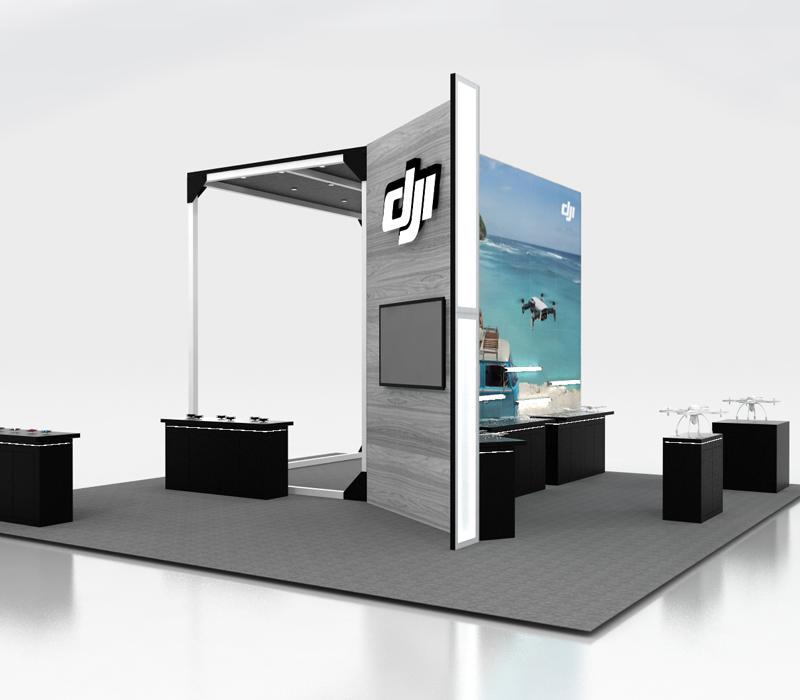 trade show tech booth
