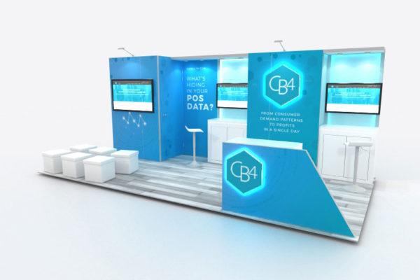 Custom trade show inline display