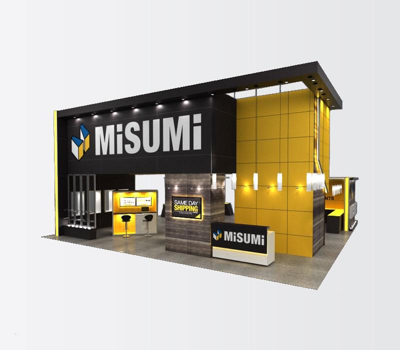 40 x 40 trade show display