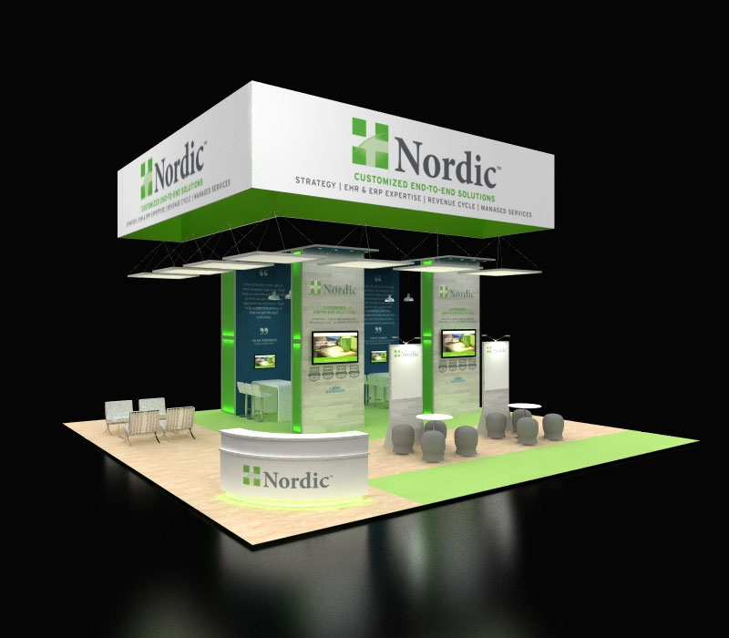 Custom Island trade show exhibit