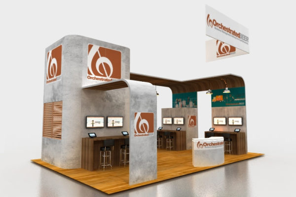 Trade show display for food and beverage industries