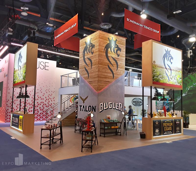 Custom Trade Show Exhibit Scandinavian Tobacco Group