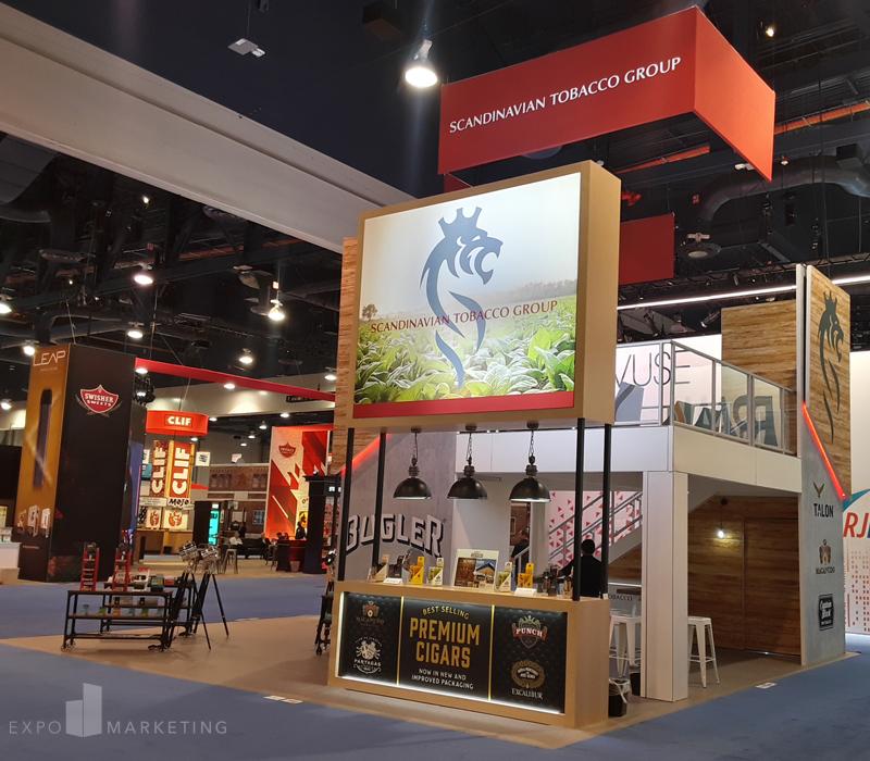Trade Show Booth Design Scandinavian Tobacco Group