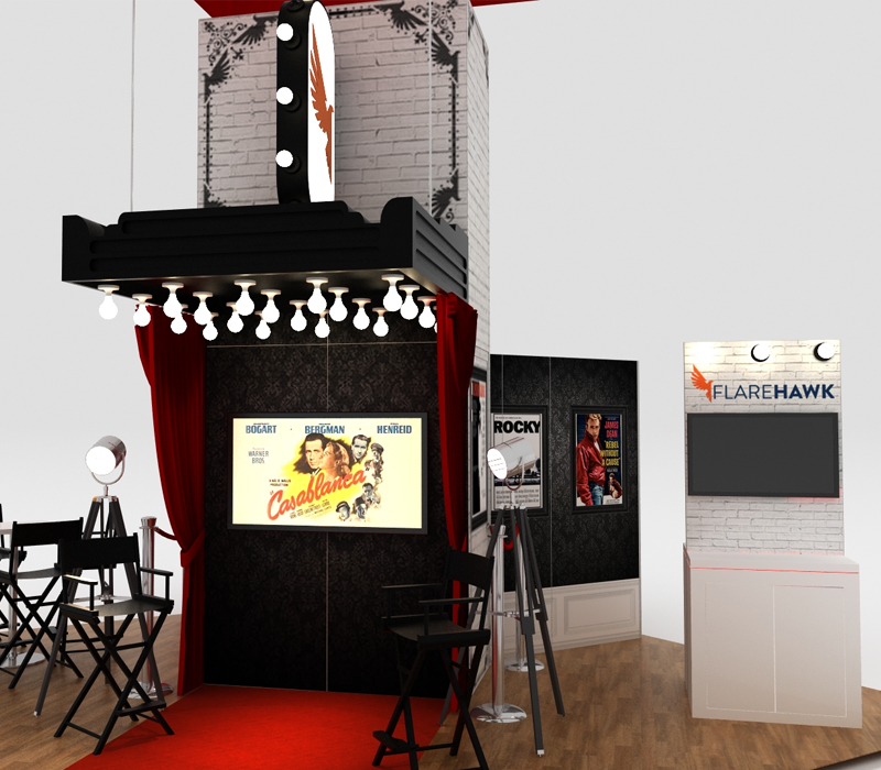 custom trade show exhibits specialty lighting
