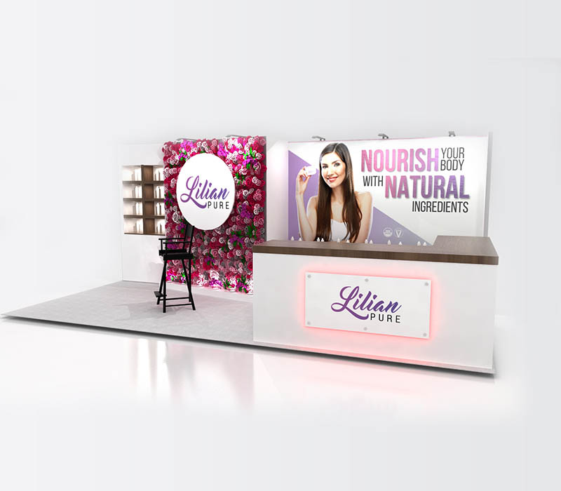natural products beauty booth