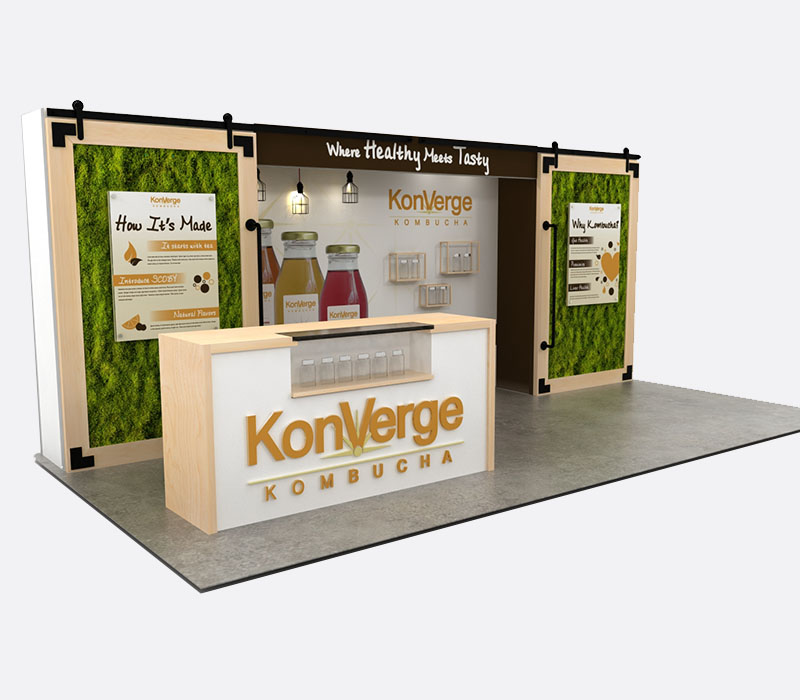Custom trade show display natural products