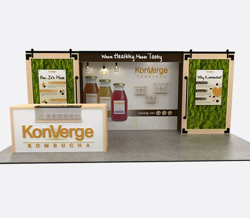 Custom natural products trade show display