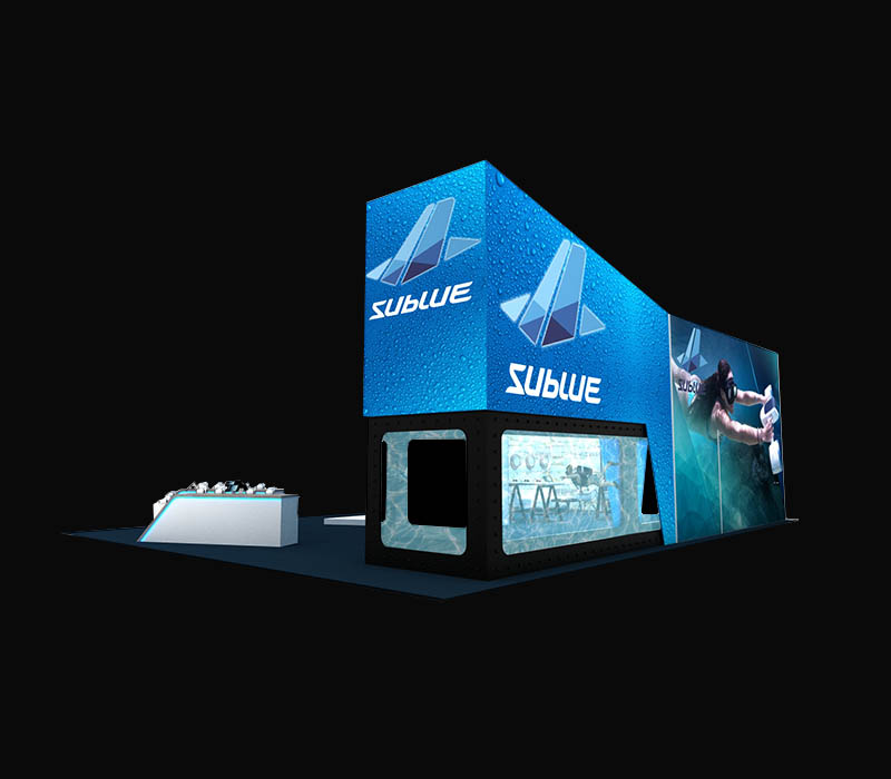 40 x 50 custom trade show booth