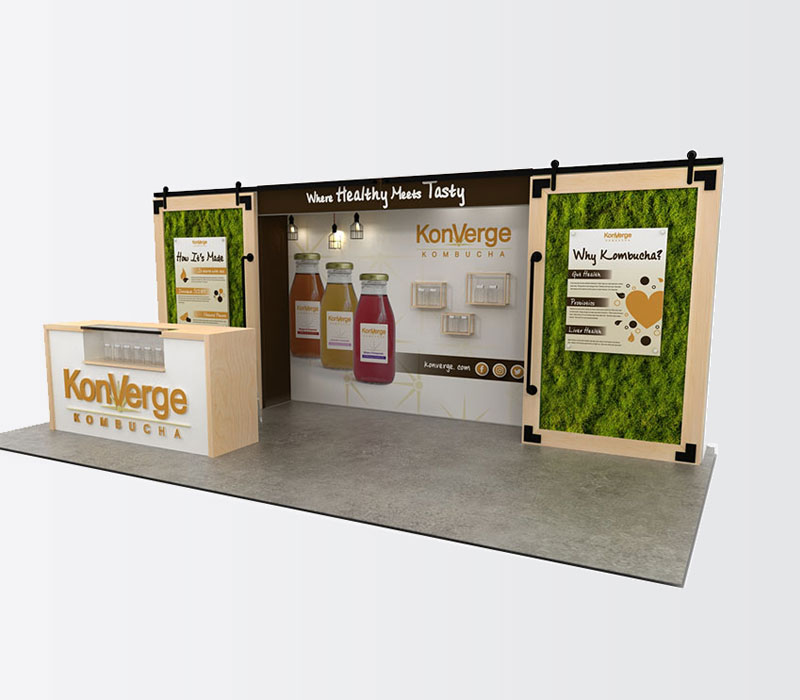 Custom trade show beverage display