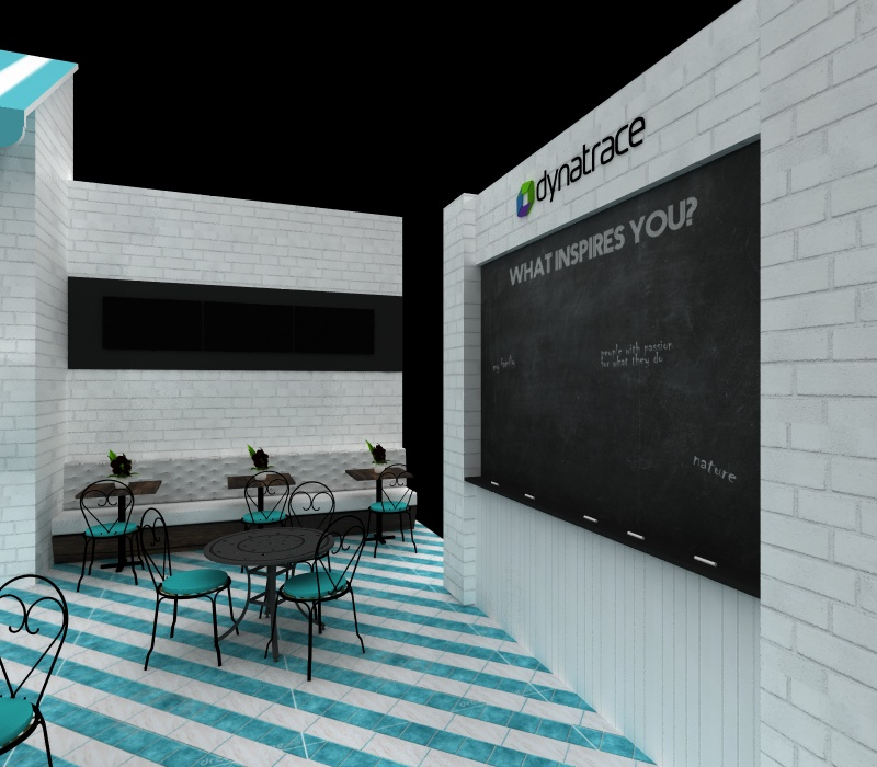 custom cafe themed booth