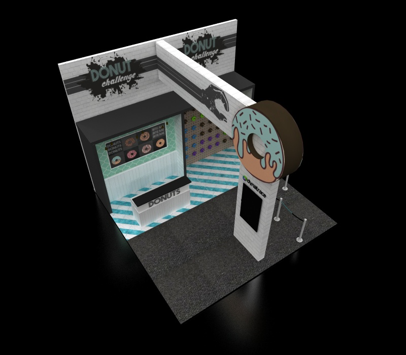 Donut wall booth