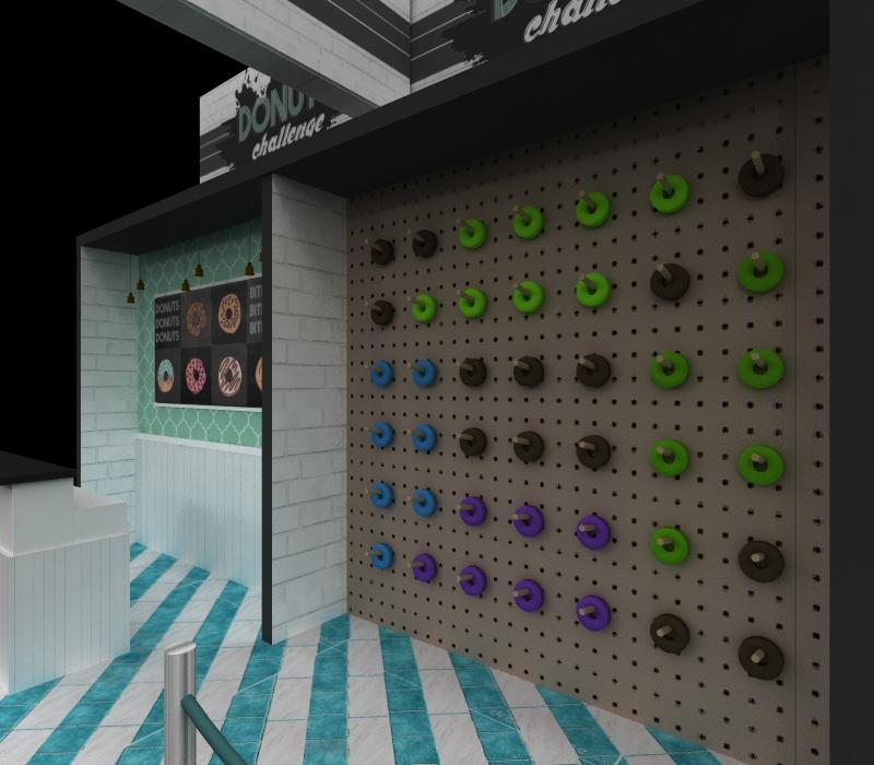 Donut wall display