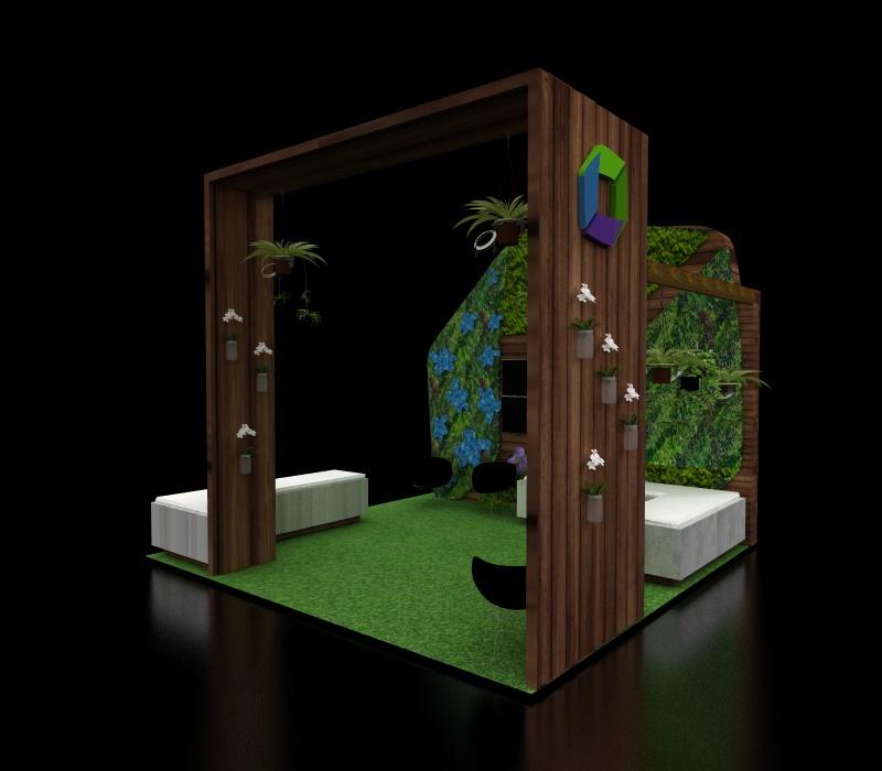 custom garden exhibit
