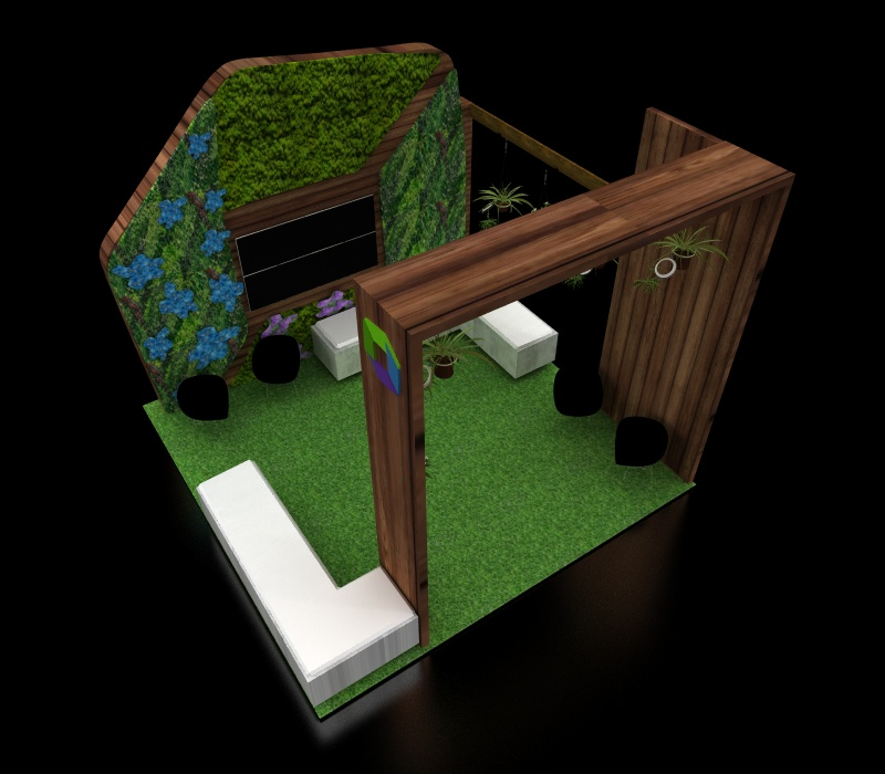 custom garden booth