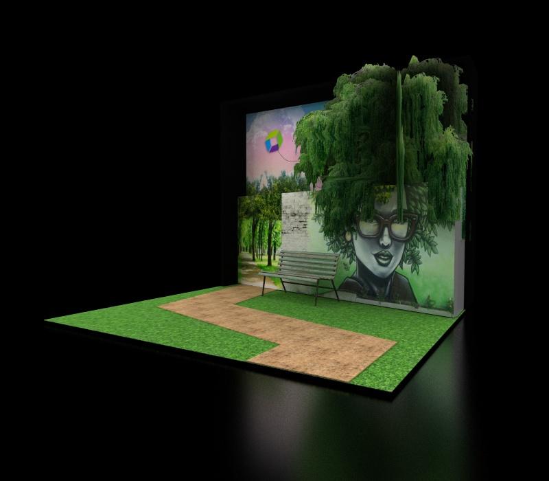 Social media concept booth