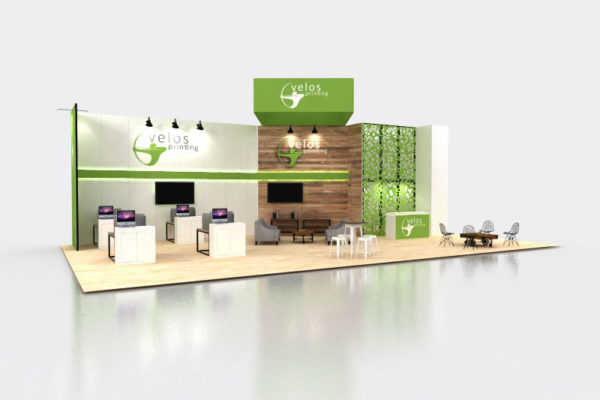 custom island trade show displays