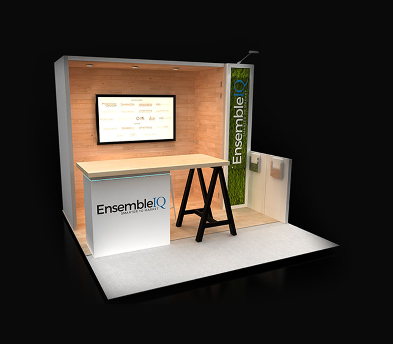 Reconfigurable trade show booth