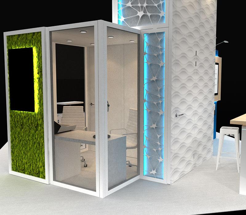 modular trade show display meeting room