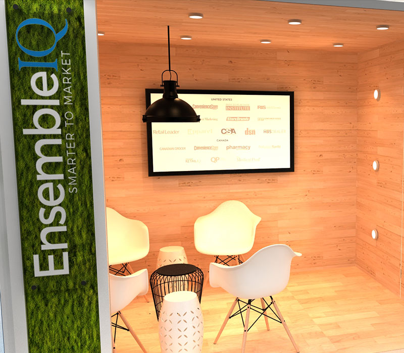 modular trade show display meeting space
