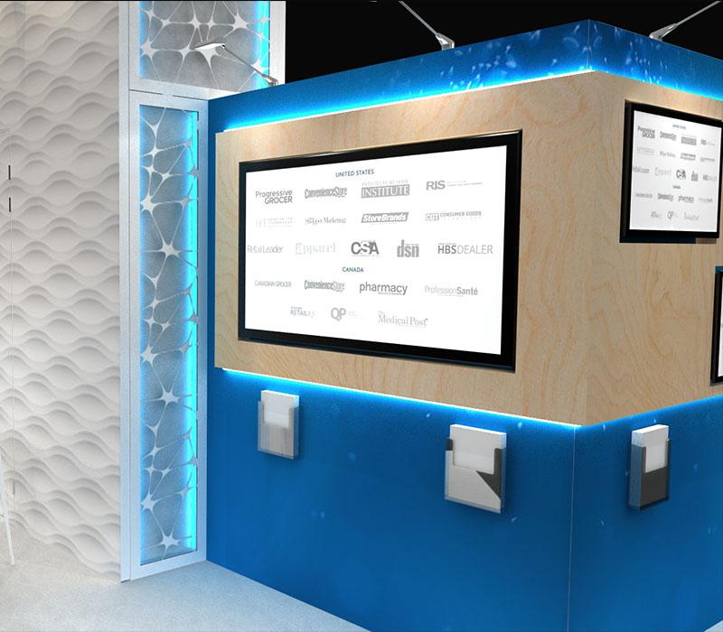 modular trade show display monitor wall