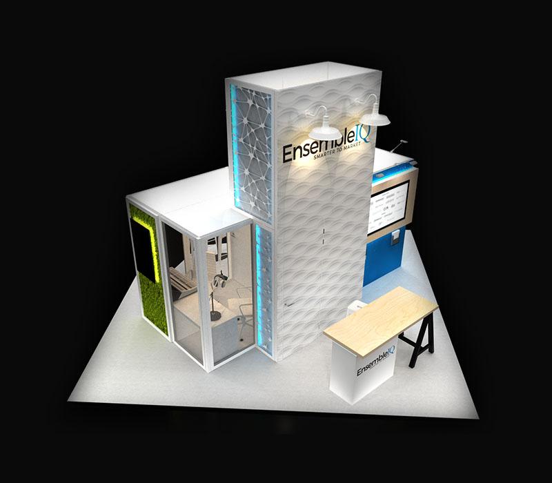 modular trade show display top view