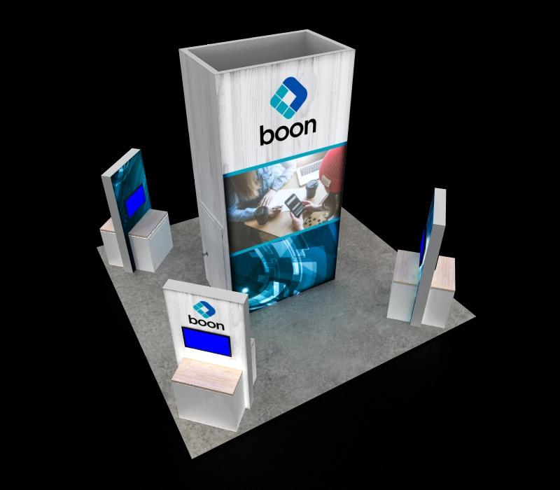 trade show display kiosk stations