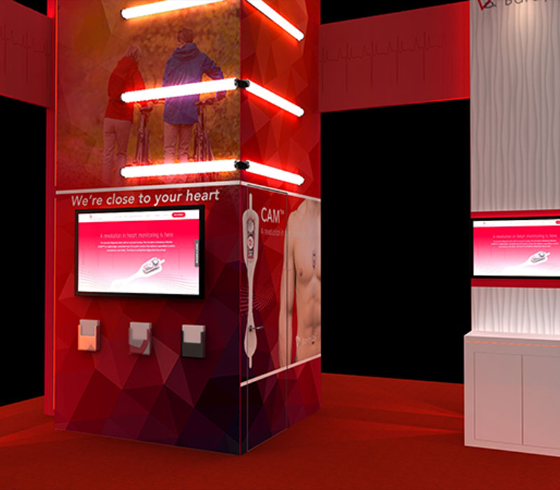 healthcare trade show display kiosk station