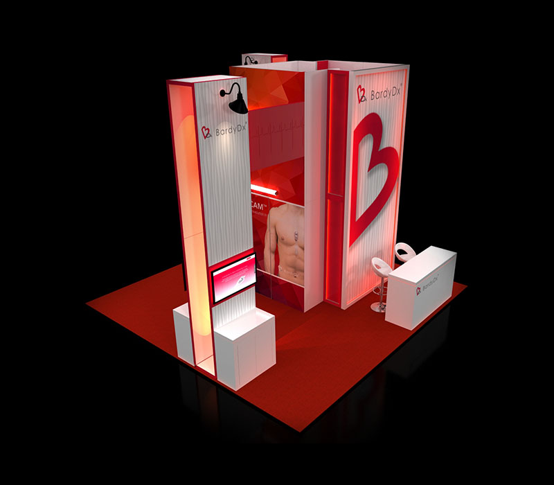 healthcare trade show booth