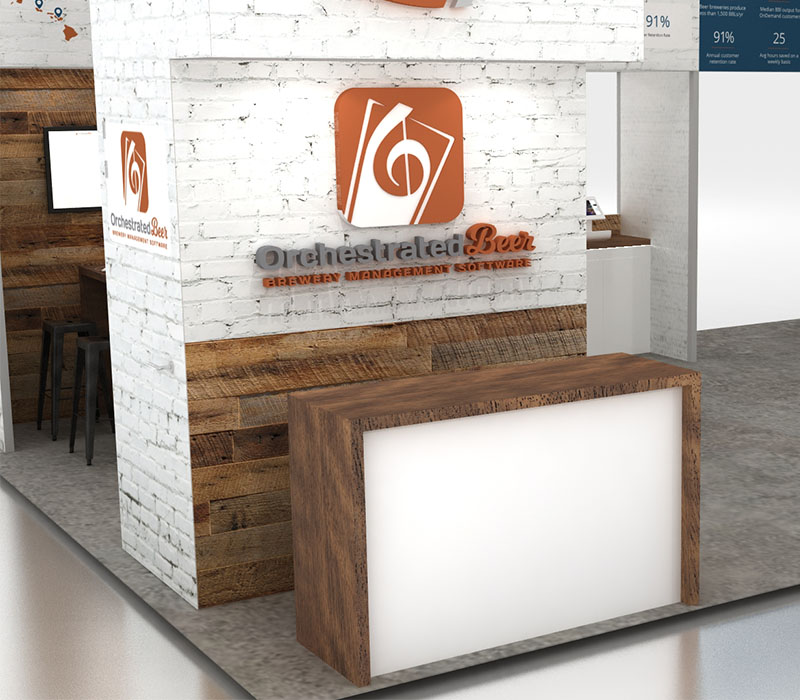 20 x 30 trade show display reception area