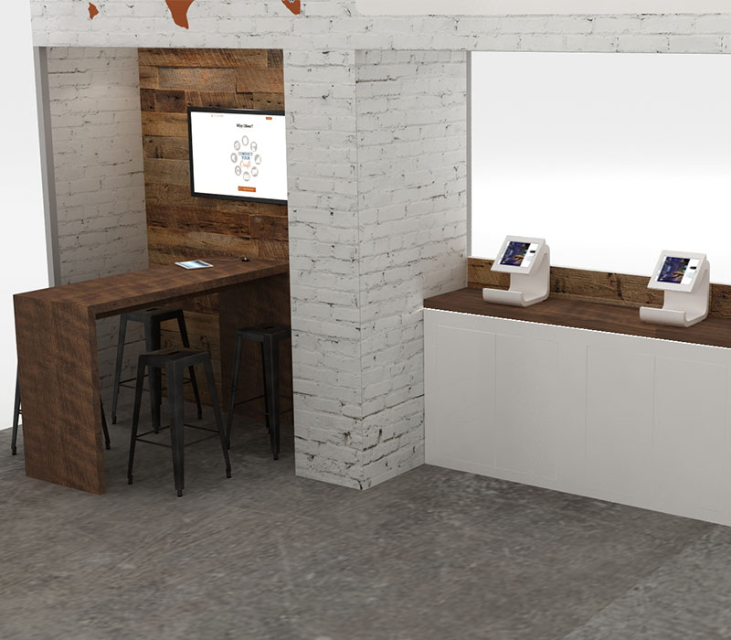 20 x 30 trade show display workstations