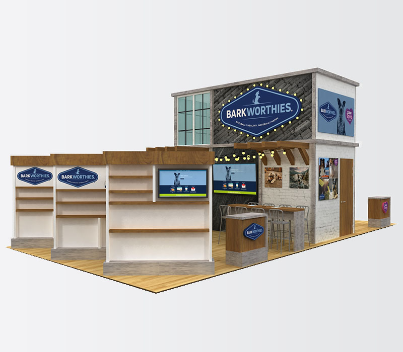 pet trade show display shelves