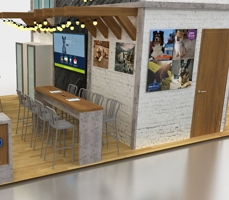 pet trade show display meeting space