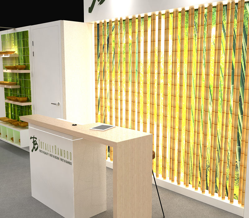 custom bamboo lightbox backwall