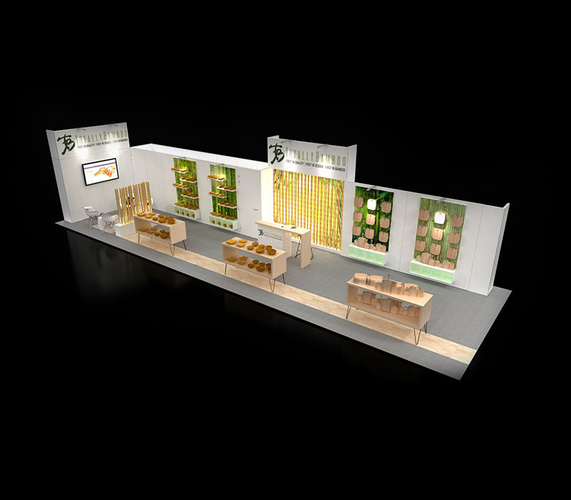 custom inline trade show booth