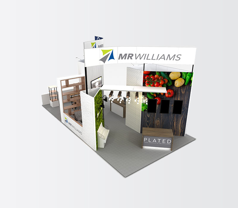 foodservice trade show display top view