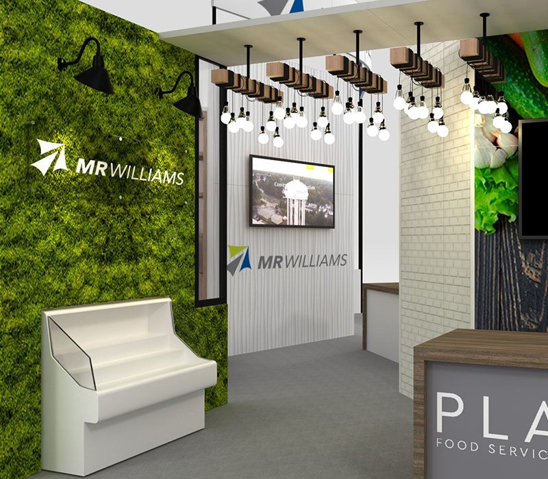 trade show display custom green wall