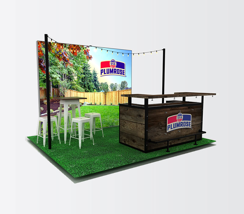 backyard style trade show display