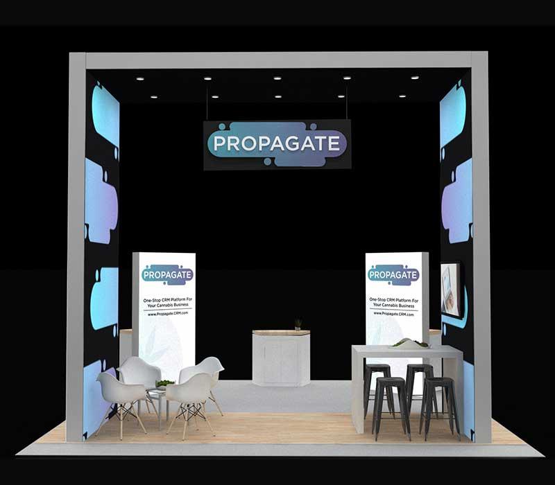 MJBizCon Trade Show Booth