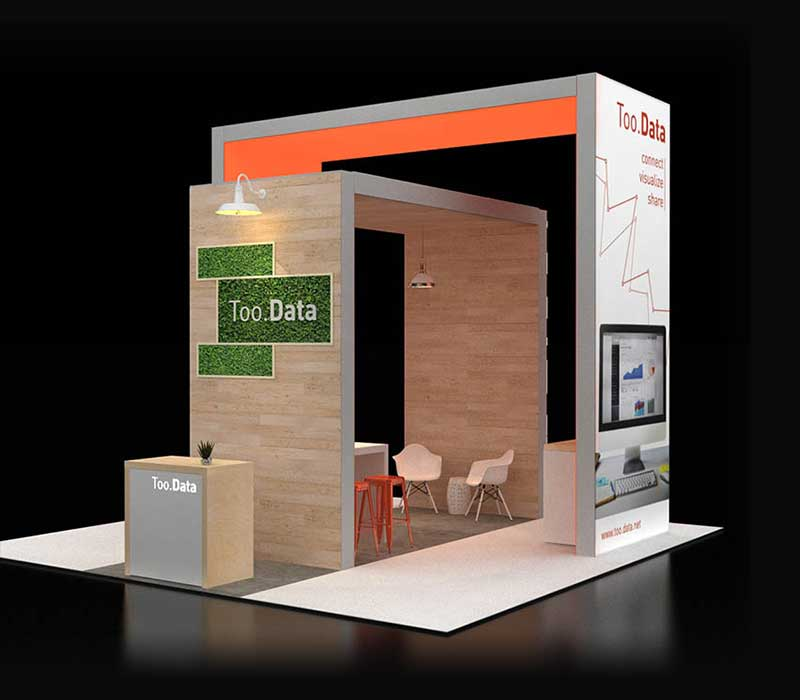 20 x 20 trade show display
