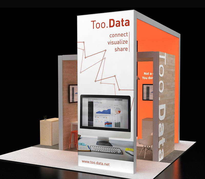 20 x 20 trade show booth