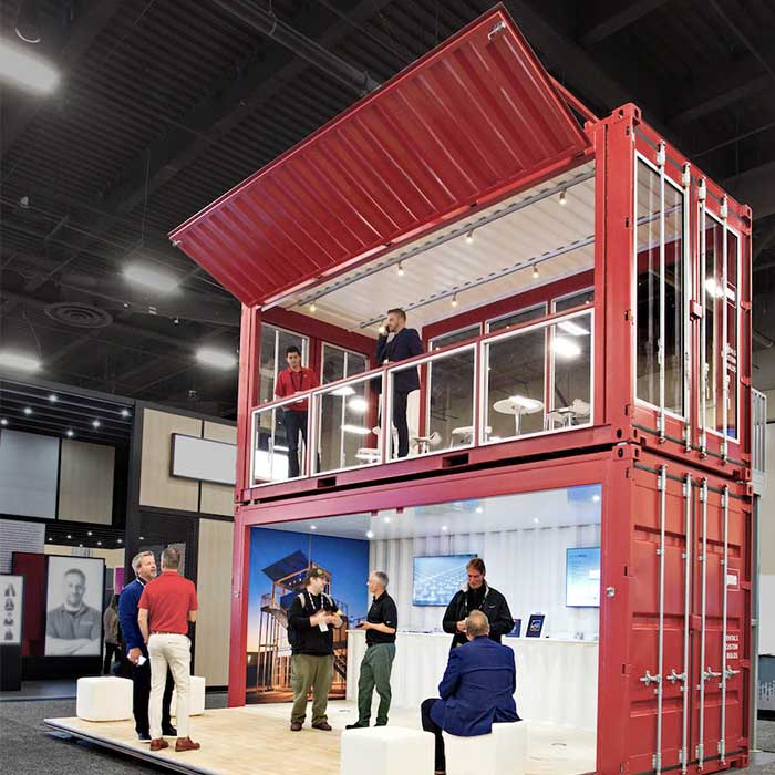Shipping Container Trade Show Displays
