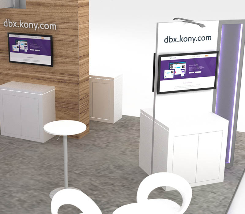 Double Deck trade show display