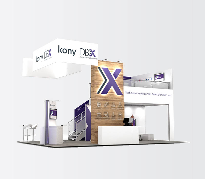 Double Deck trade show booth