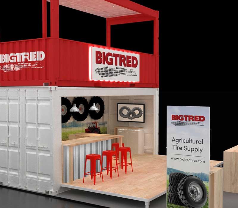 CONEXPO trade show shipping container booth